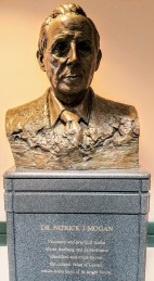 Bust of Patrick Mogan at the Mogan Cultural Center in Downtown Lowell.