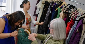Customers peruse the offerings at Kravant Boutique