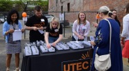 UTEC Team at the check-in table