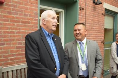 Mayor Samaras and AJ Saing